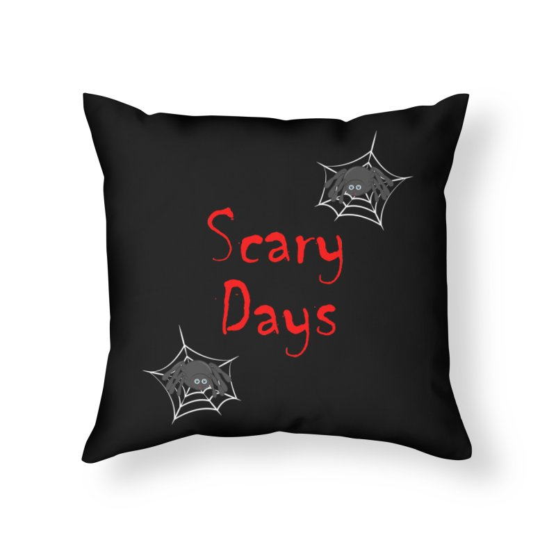 Scary Days Home Throw Pillow by Magic Pixel's Artist Shop