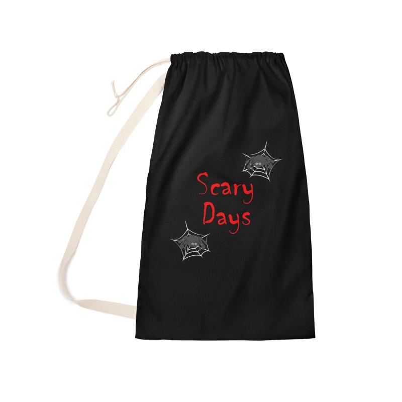 Scary Days Accessories Laundry Bag Bag by Magic Pixel's Artist Shop