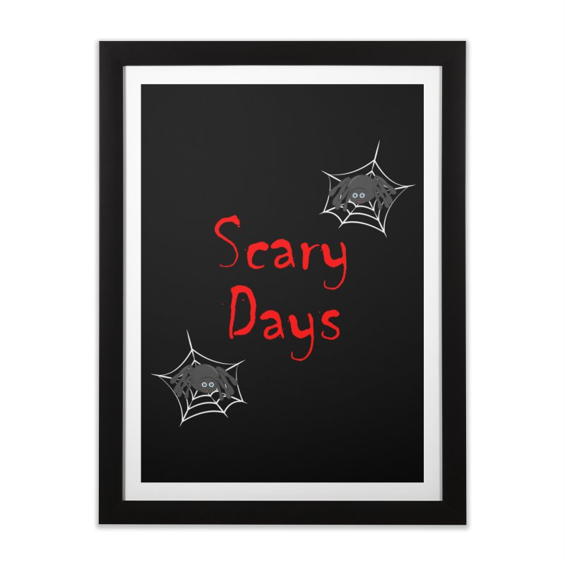 Scary Days Home Framed Fine Art Print by Magic Pixel's Artist Shop
