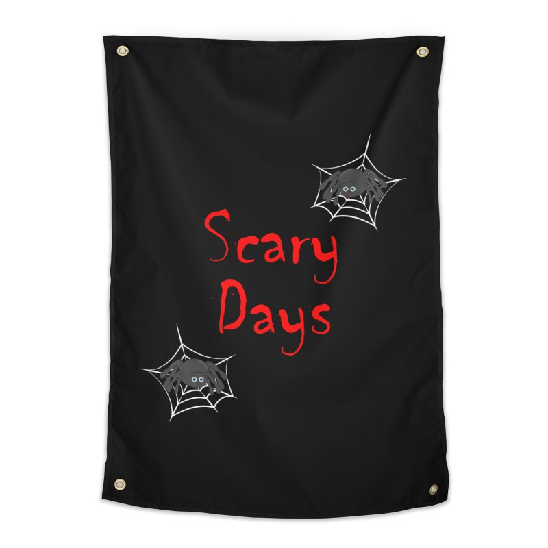 Scary Days Home Tapestry by Magic Pixel's Artist Shop