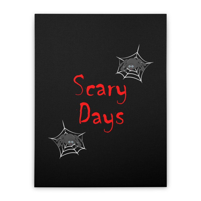 Scary Days Home Stretched Canvas by Magic Pixel's Artist Shop