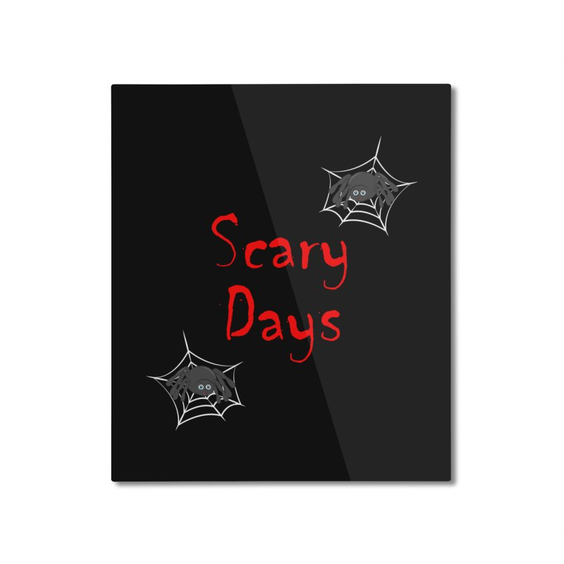 Scary Days Home Mounted Aluminum Print by Magic Pixel's Artist Shop