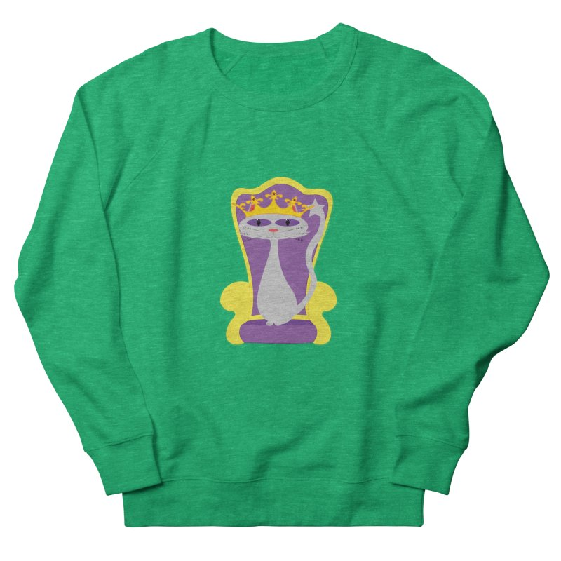 Princess Meera on her Throne Women's French Terry Sweatshirt by Magic Pixel's Artist Shop