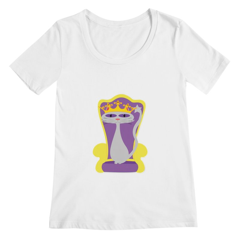 Princess Meera on her Throne Women's Regular Scoop Neck by Magic Pixel's Artist Shop