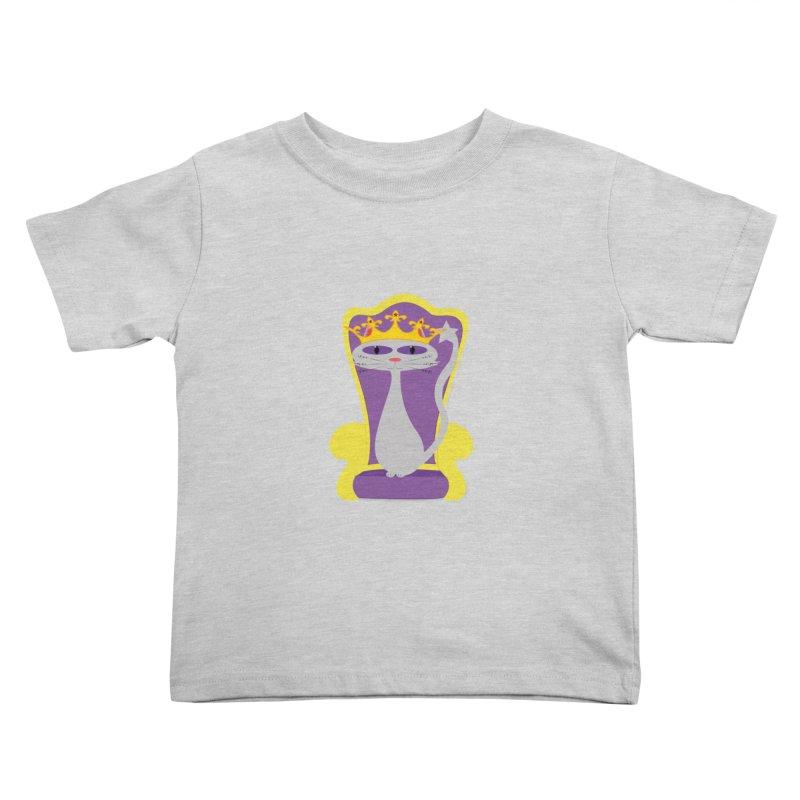 Princess Meera on her Throne Kids Toddler T-Shirt by Magic Pixel's Artist Shop