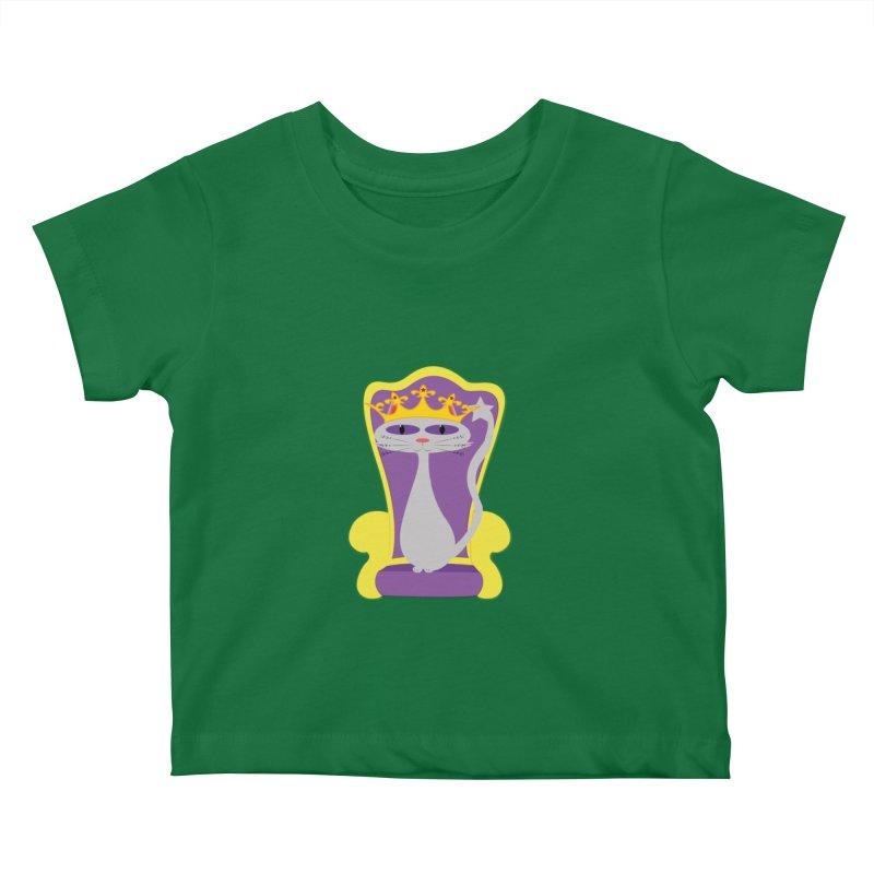 Princess Meera on her Throne Kids Baby T-Shirt by Magic Pixel's Artist Shop