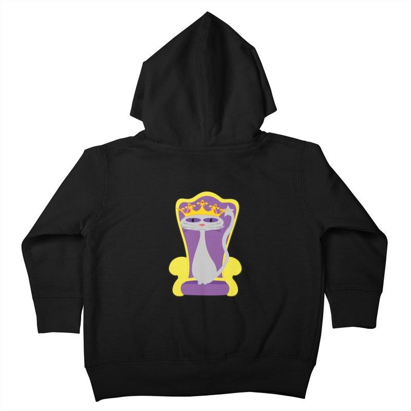 Princess Meera on her Throne Kids Toddler Zip-Up Hoody by Magic Pixel's Artist Shop