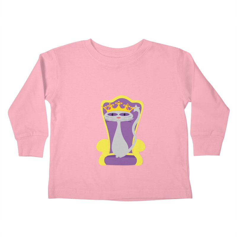 Princess Meera on her Throne Kids Toddler Longsleeve T-Shirt by Magic Pixel's Artist Shop