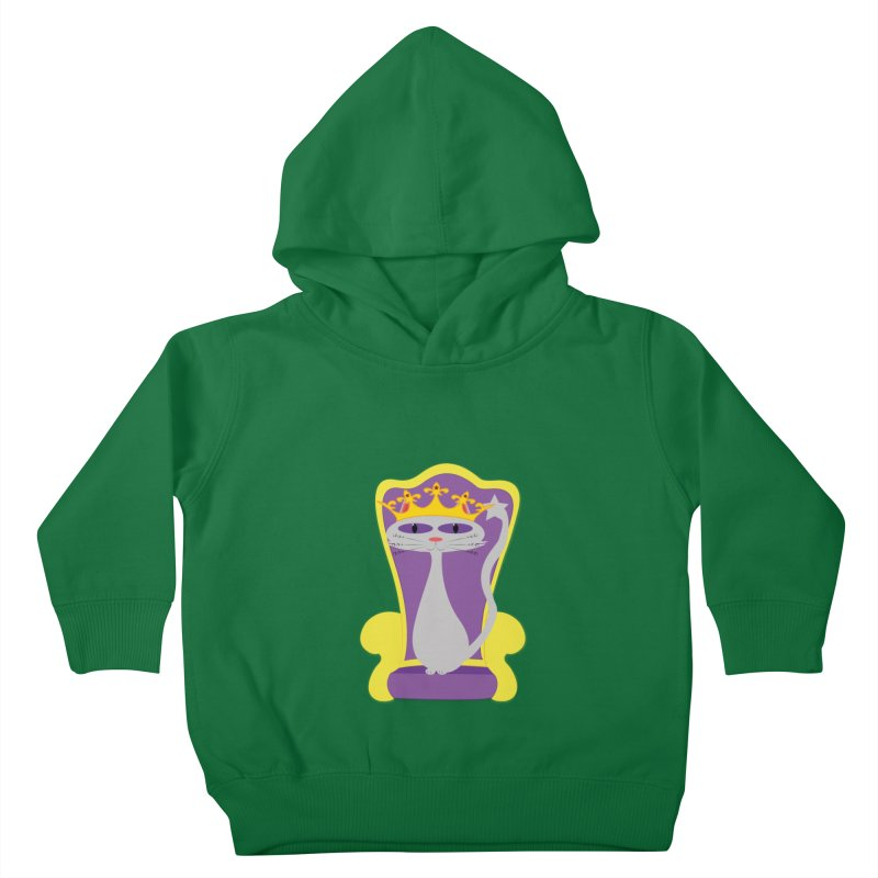 Princess Meera on her Throne Kids Toddler Pullover Hoody by Magic Pixel's Artist Shop