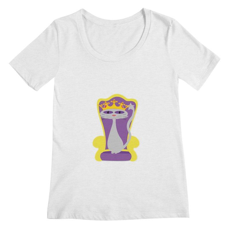 Princess Meera on her Throne Women's Regular Scoop Neck by Magic Pixel's Artist Shop