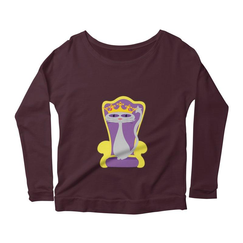 Princess Meera on her Throne Women's Scoop Neck Longsleeve T-Shirt by Magic Pixel's Artist Shop