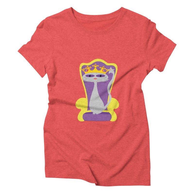 Princess Meera on her Throne Women's Triblend T-Shirt by Magic Pixel's Artist Shop