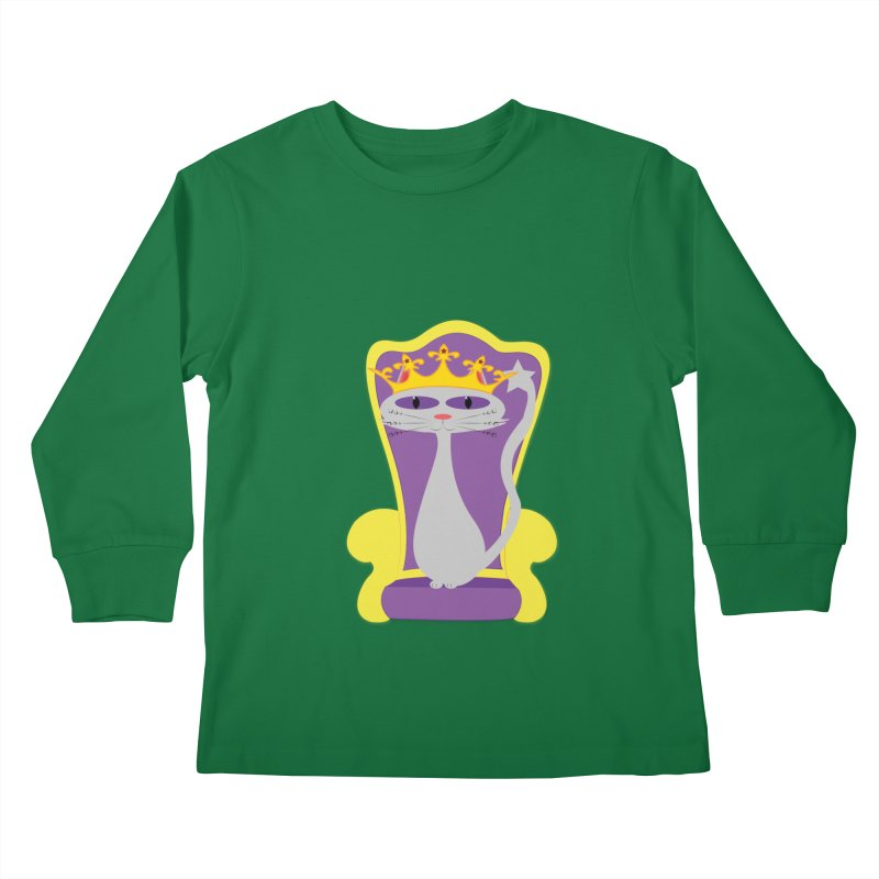 Princess Meera on her Throne Kids Longsleeve T-Shirt by Magic Pixel's Artist Shop