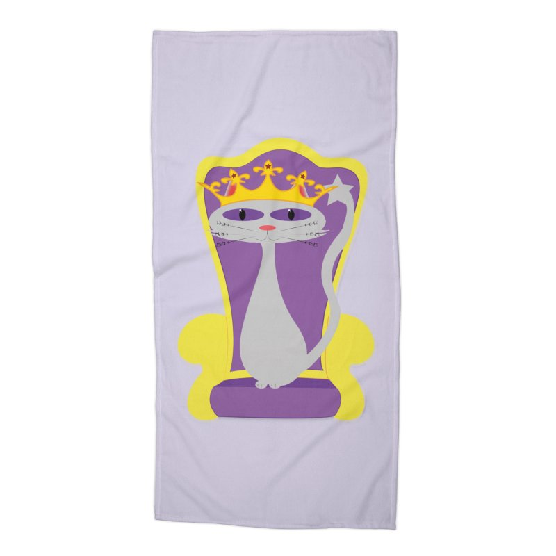 Princess Meera on her Throne Accessories Beach Towel by Magic Pixel's Artist Shop