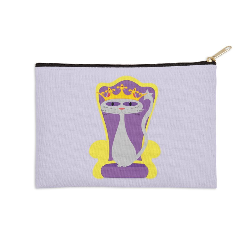 Princess Meera on her Throne Accessories Zip Pouch by Magic Pixel's Artist Shop