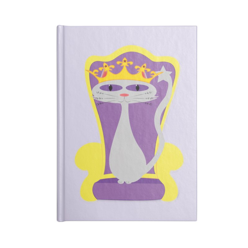 Princess Meera on her Throne Accessories Lined Journal Notebook by Magic Pixel's Artist Shop
