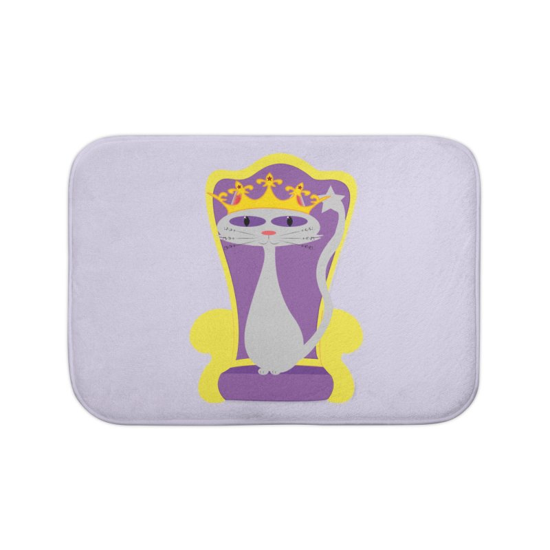 Princess Meera on her Throne Home Bath Mat by Magic Pixel's Artist Shop