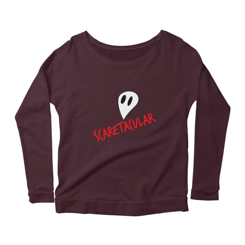 Scaretacular Women's Scoop Neck Longsleeve T-Shirt by Magic Pixel's Artist Shop