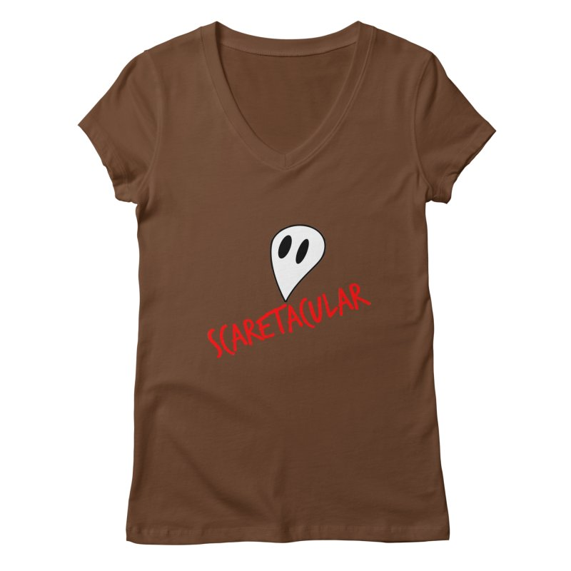 Scaretacular Women's Regular V-Neck by Magic Pixel's Artist Shop