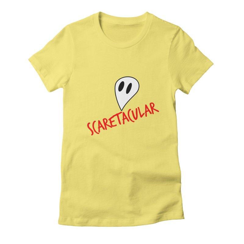 Scaretacular Women's Fitted T-Shirt by Magic Pixel's Artist Shop