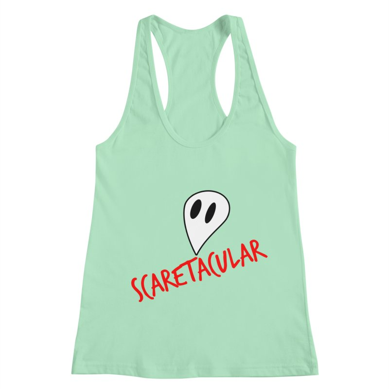 Scaretacular Women's Racerback Tank by Magic Pixel's Artist Shop