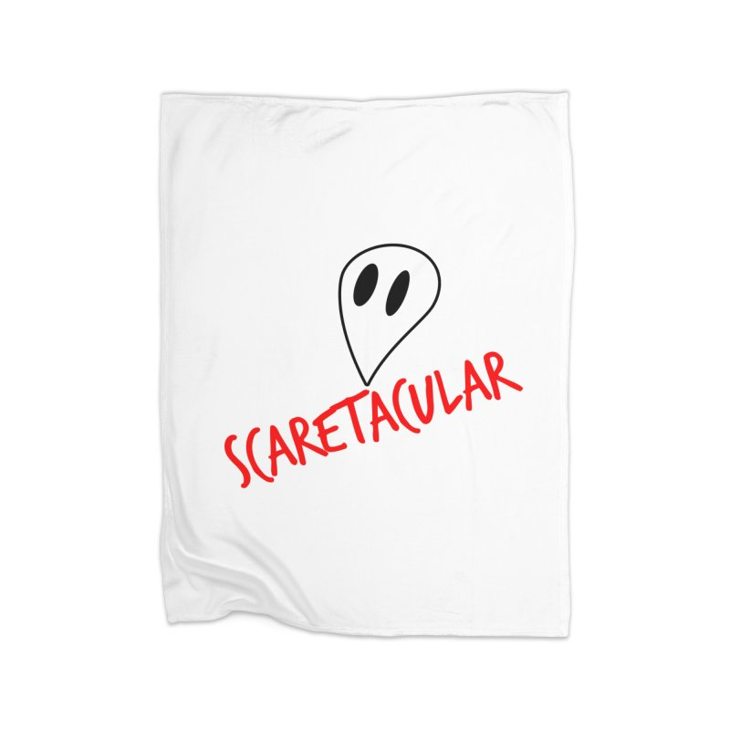 Scaretacular Home Fleece Blanket Blanket by Magic Pixel's Artist Shop