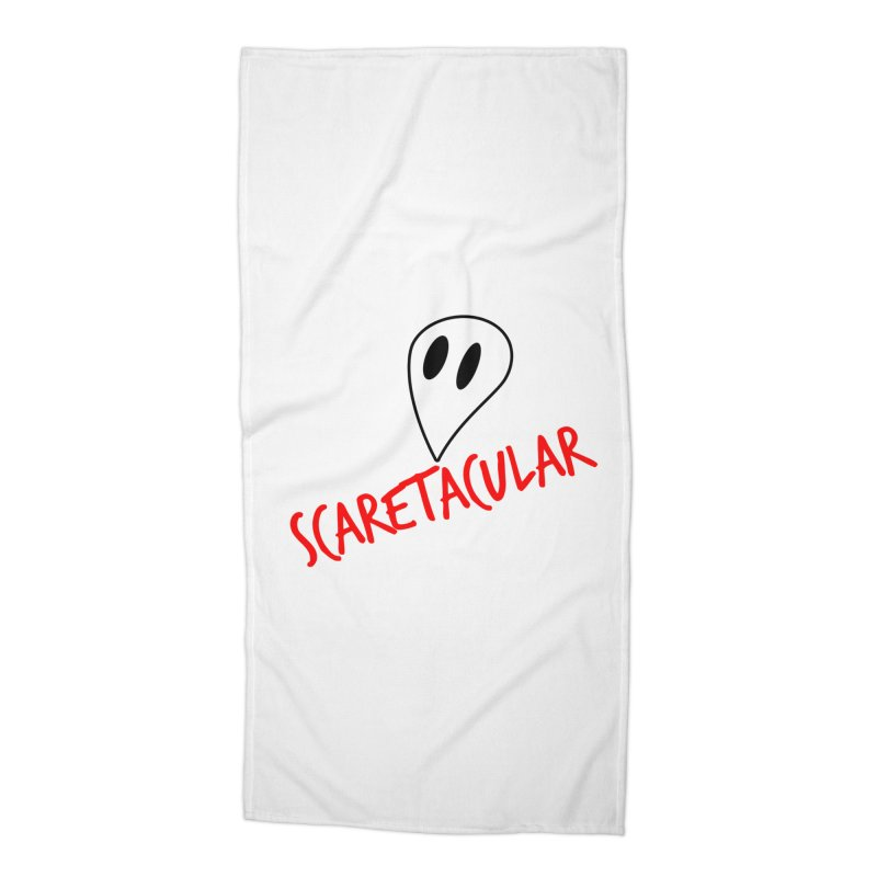 Scaretacular Accessories Beach Towel by Magic Pixel's Artist Shop