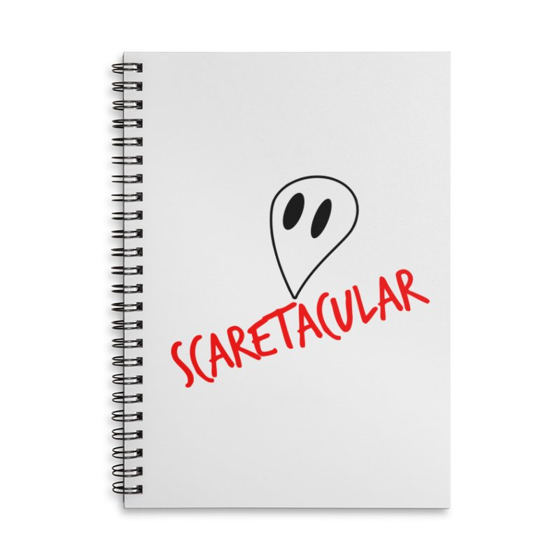 Scaretacular Accessories Lined Spiral Notebook by Magic Pixel's Artist Shop