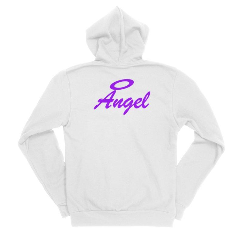 Angel Women's Sponge Fleece Zip-Up Hoody by Magic Pixel's Artist Shop