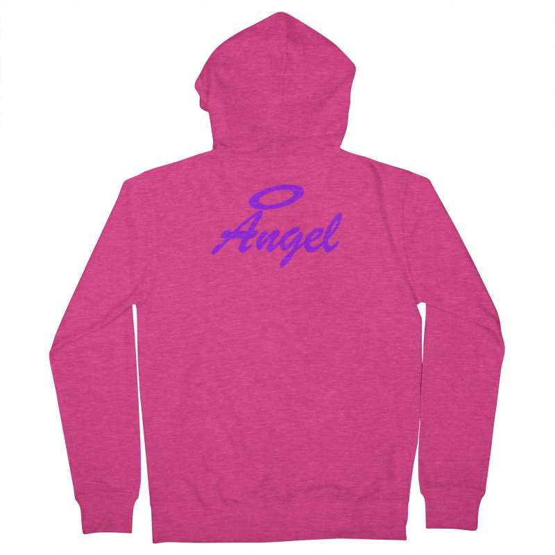 Angel Women's French Terry Zip-Up Hoody by Magic Pixel's Artist Shop