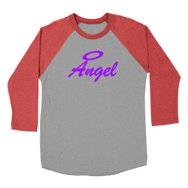 Angel Women's Baseball Triblend Longsleeve T-Shirt by Magic Pixel's Artist Shop