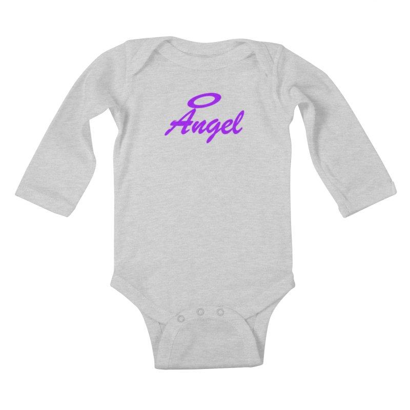 Angel Kids Baby Longsleeve Bodysuit by Magic Pixel's Artist Shop