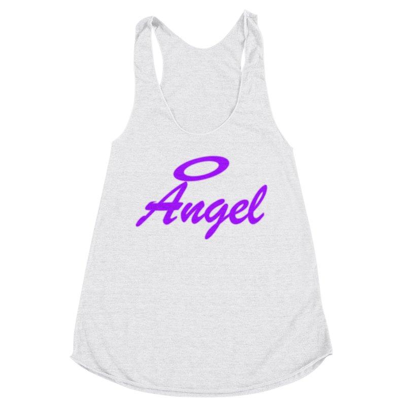 Angel Women's Racerback Triblend Tank by Magic Pixel's Artist Shop