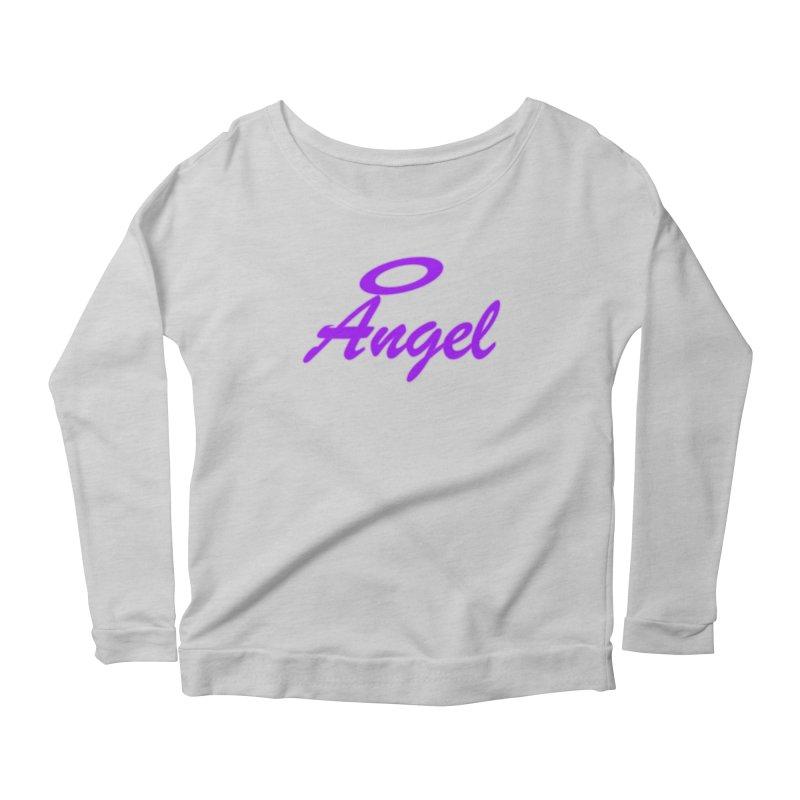 Angel Women's Scoop Neck Longsleeve T-Shirt by Magic Pixel's Artist Shop