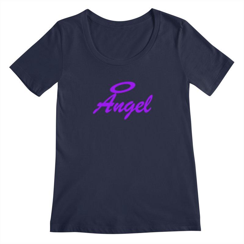 Angel Women's Regular Scoop Neck by Magic Pixel's Artist Shop