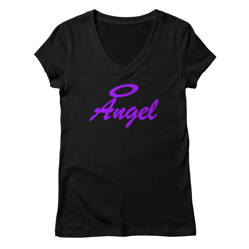 Angel Women's Regular V-Neck by Magic Pixel's Artist Shop