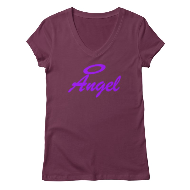 Angel Women's Regular V-Neck by Magic Pixel's Artist Shop