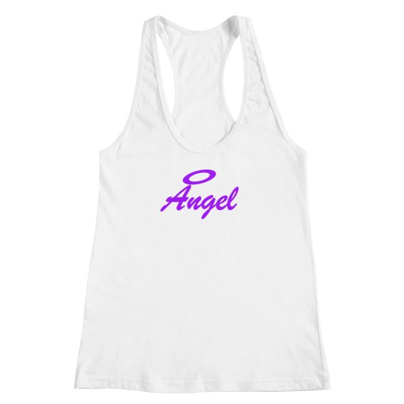 Angel Women's Racerback Tank by Magic Pixel's Artist Shop