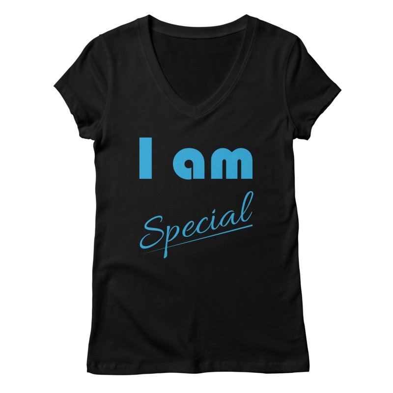 I am Special Women's Regular V-Neck by Magic Pixel's Artist Shop
