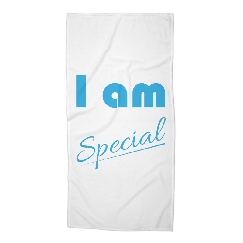 I am Special Accessories Beach Towel by Magic Pixel's Artist Shop