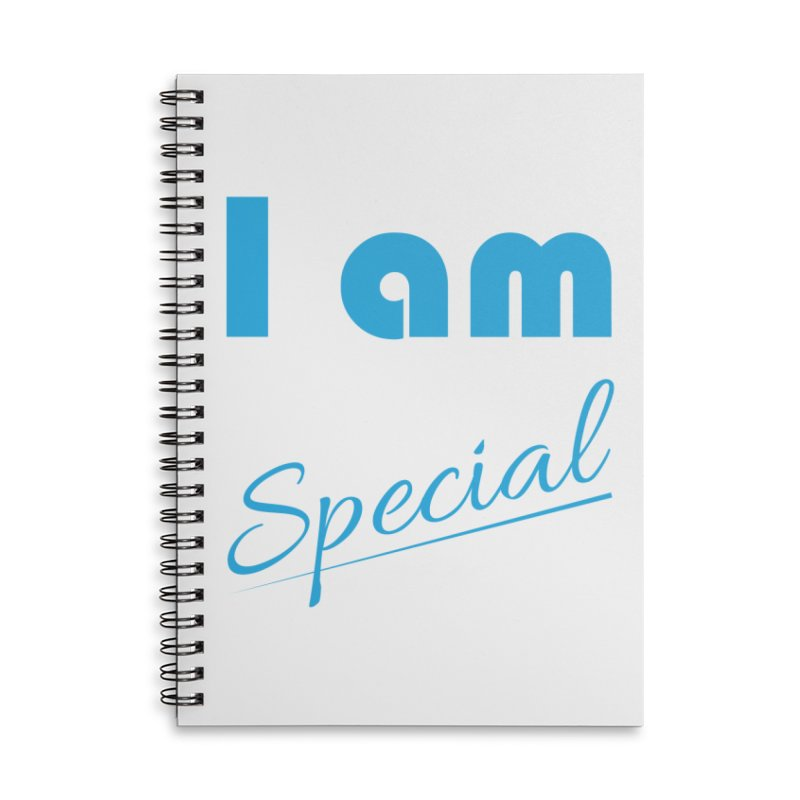 I am Special Accessories Lined Spiral Notebook by Magic Pixel's Artist Shop