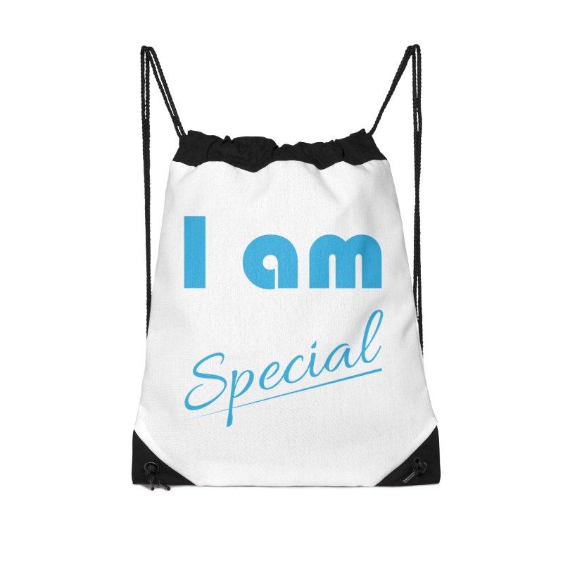 I am Special Accessories Drawstring Bag Bag by Magic Pixel's Artist Shop