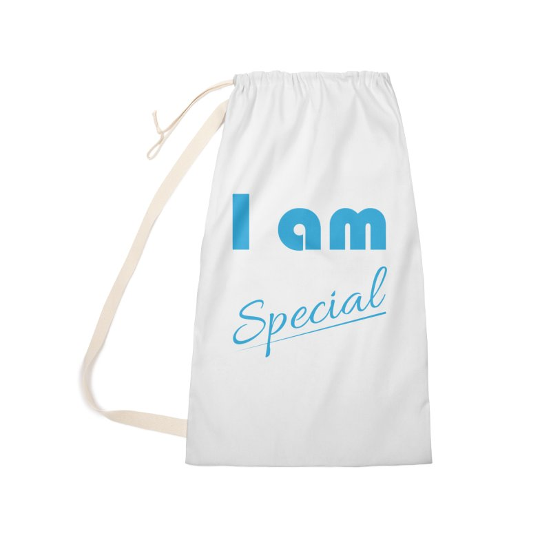 I am Special Accessories Laundry Bag Bag by Magic Pixel's Artist Shop