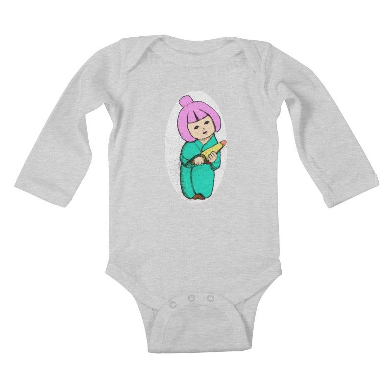 Cute Child Kids Baby Longsleeve Bodysuit by Magic Pixel's Artist Shop