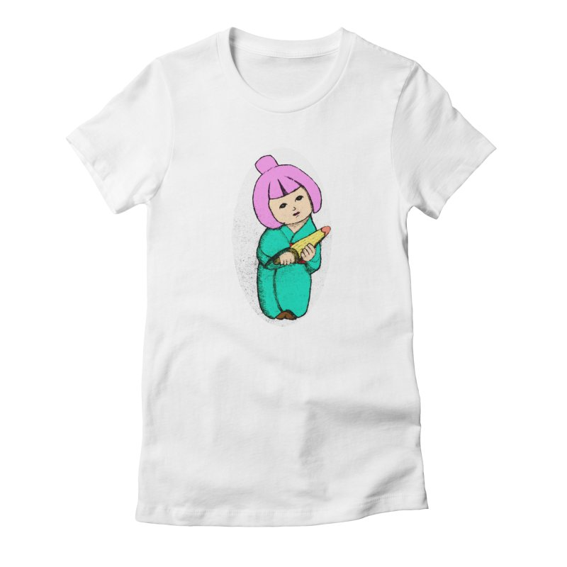 Cute Child Women's Fitted T-Shirt by Magic Pixel's Artist Shop