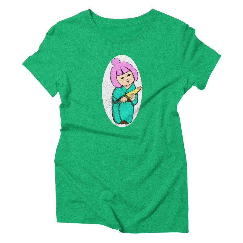 Cute Child Women's Triblend T-Shirt by Magic Pixel's Artist Shop