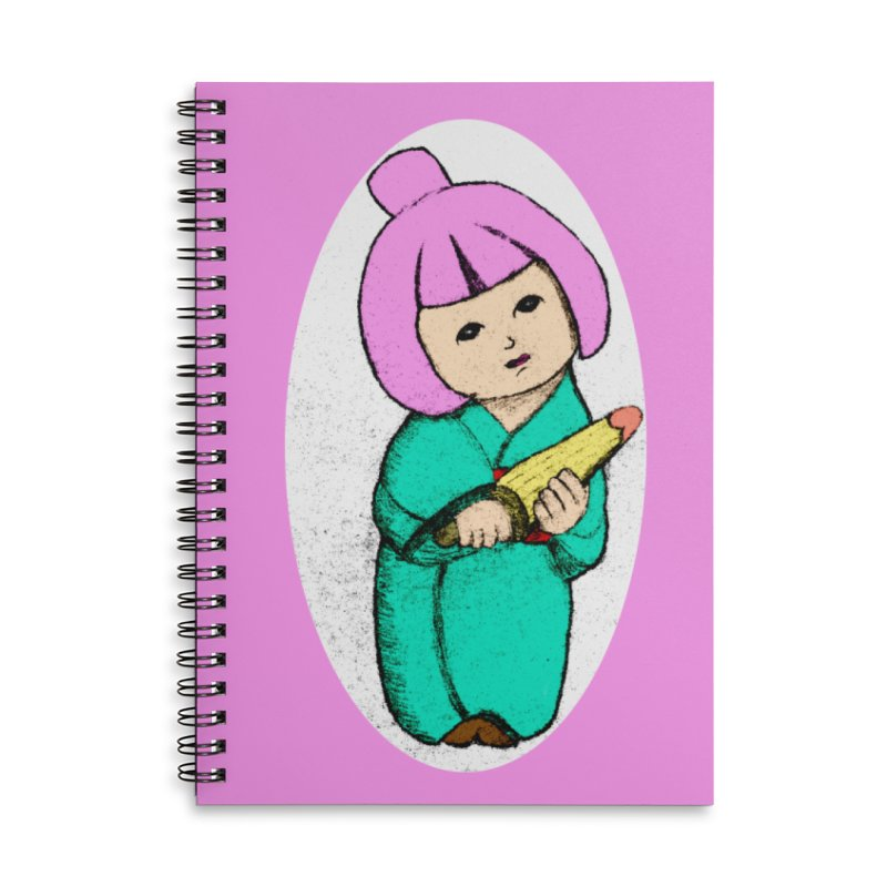 Cute Child Accessories Lined Spiral Notebook by Magic Pixel's Artist Shop