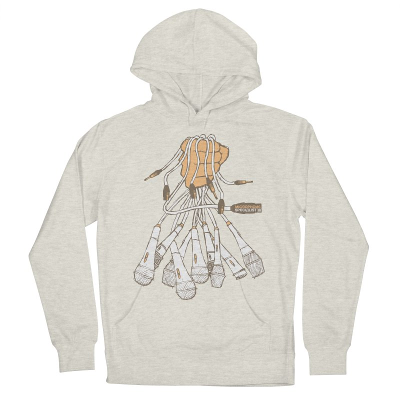 Microphone Specialist Men's French Terry Pullover Hoody by magneticclothing's Artist Shop