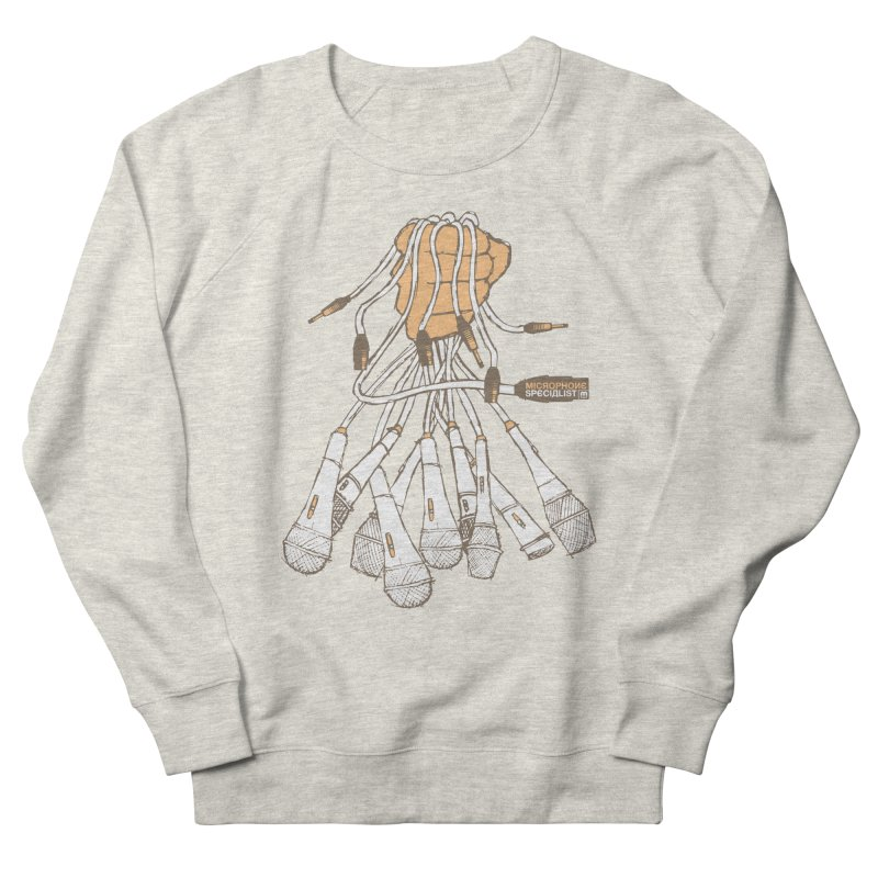 Microphone Specialist Women's French Terry Sweatshirt by magneticclothing's Artist Shop