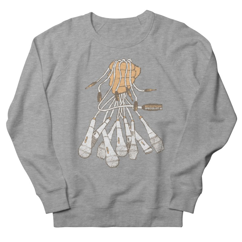 Microphone Specialist Men's French Terry Sweatshirt by magneticclothing's Artist Shop